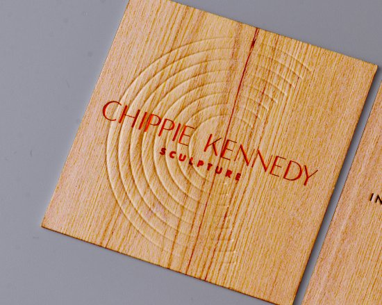 Square Wood Business Card