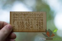 Engraved Bamboo Wood Business Cards-thumb