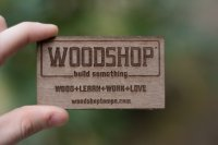 Wood Workshop Engraved Wood Business Cards-thumb