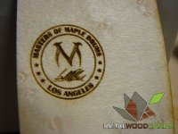 Maple Drums Wood Business Card-thumb