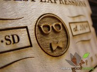 Your Best Expressions Photography Laser Engraved Wood Business Cards-thumb