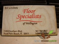 SIngle Color Print Wood Business Cards Double Sided-thumb