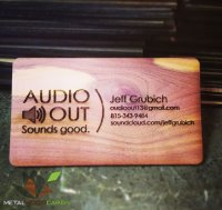Audio Out Laser Engraved Business Card-thumb