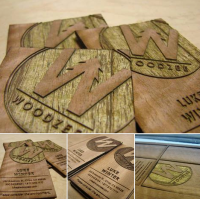 Woodzee Engraved Wooden Business Cards-thumb