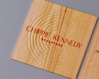 Square Wood Business Card-thumb