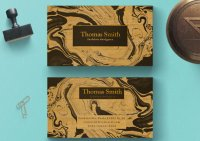 Marble Designer Wood Business Cards-thumb