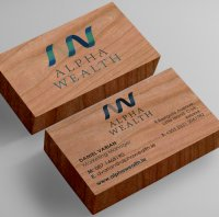 Wealth Management Wood Printed Cards-thumb