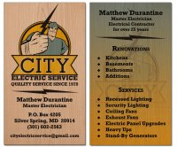 City Electrical Wood Business Cards-thumb