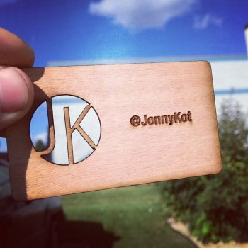 Cutout Business Cards Engraved