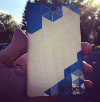 Media Passes Made of Wood