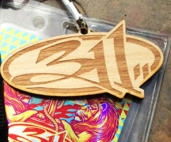 Engraved Wood Key Chain Business Cards