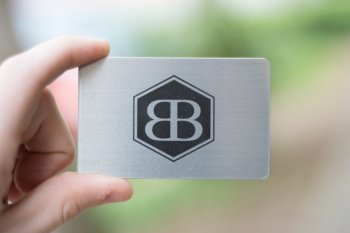 Printed and Engraved Metal Wood Business Cards