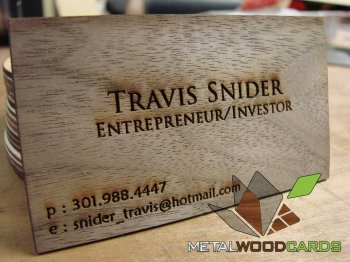Personal Branding Wood Business Cards
