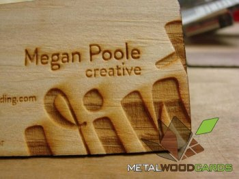 Engraved Mahogany Wood Business Cards