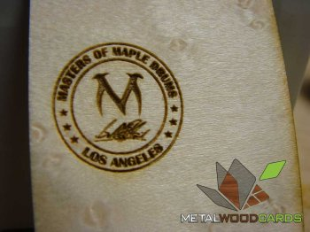 Maple Drums Wood Business Card