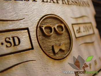 Your Best Expressions Photography Laser Engraved Wood Business Cards