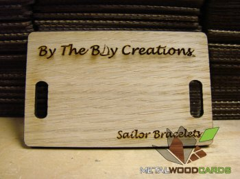 SIngle Color Print Wood Business Cards Double Sided