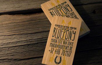 Media Producer Wooden Business Cards