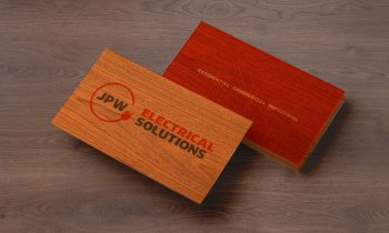 Electrical Company Business Card of Wood