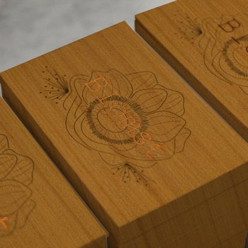 Floral Wood Cards