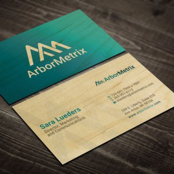 Michigan Wood Business Cards