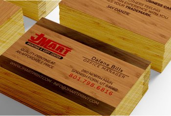 Wholesale Print Shop Wood Business Cards