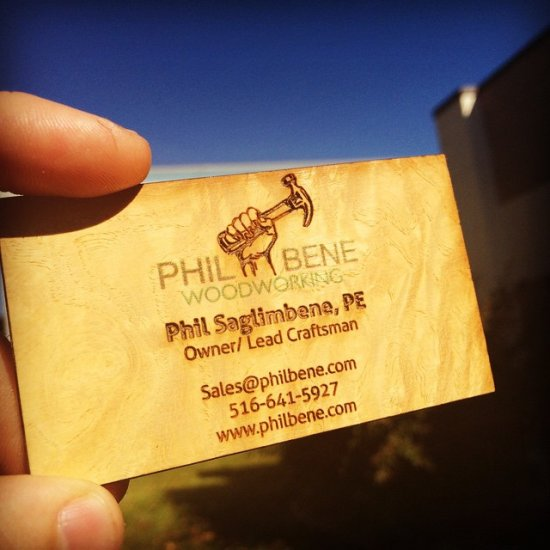 Woodworker Wood Business Cards