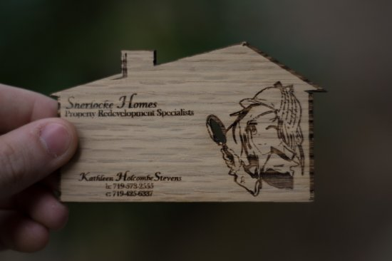 Property Redevelopment Wood Business Cards