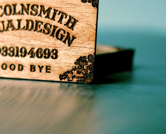 High Precision Laser Engraved Wooden Cards