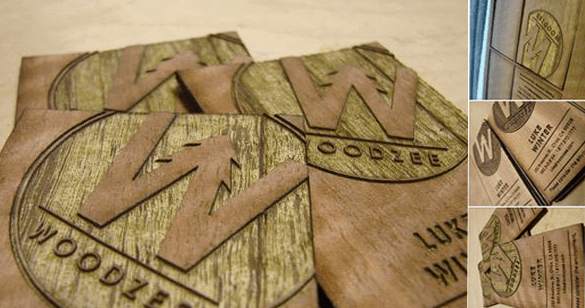 Unique Hand Crafted Wood Business Cards